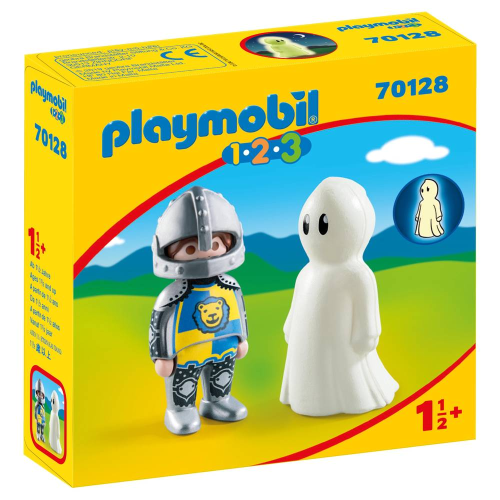 PLAYMOBIL 1.2.3 ridder en spook 70128