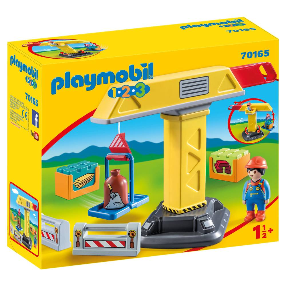 PLAYMOBIL 1.2.3 bouwkraan 70165