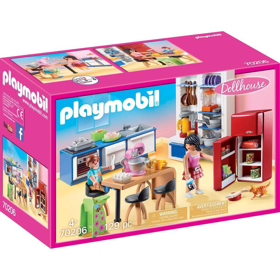 PLAYMOBIL Dollhouse leefkeuken 70206