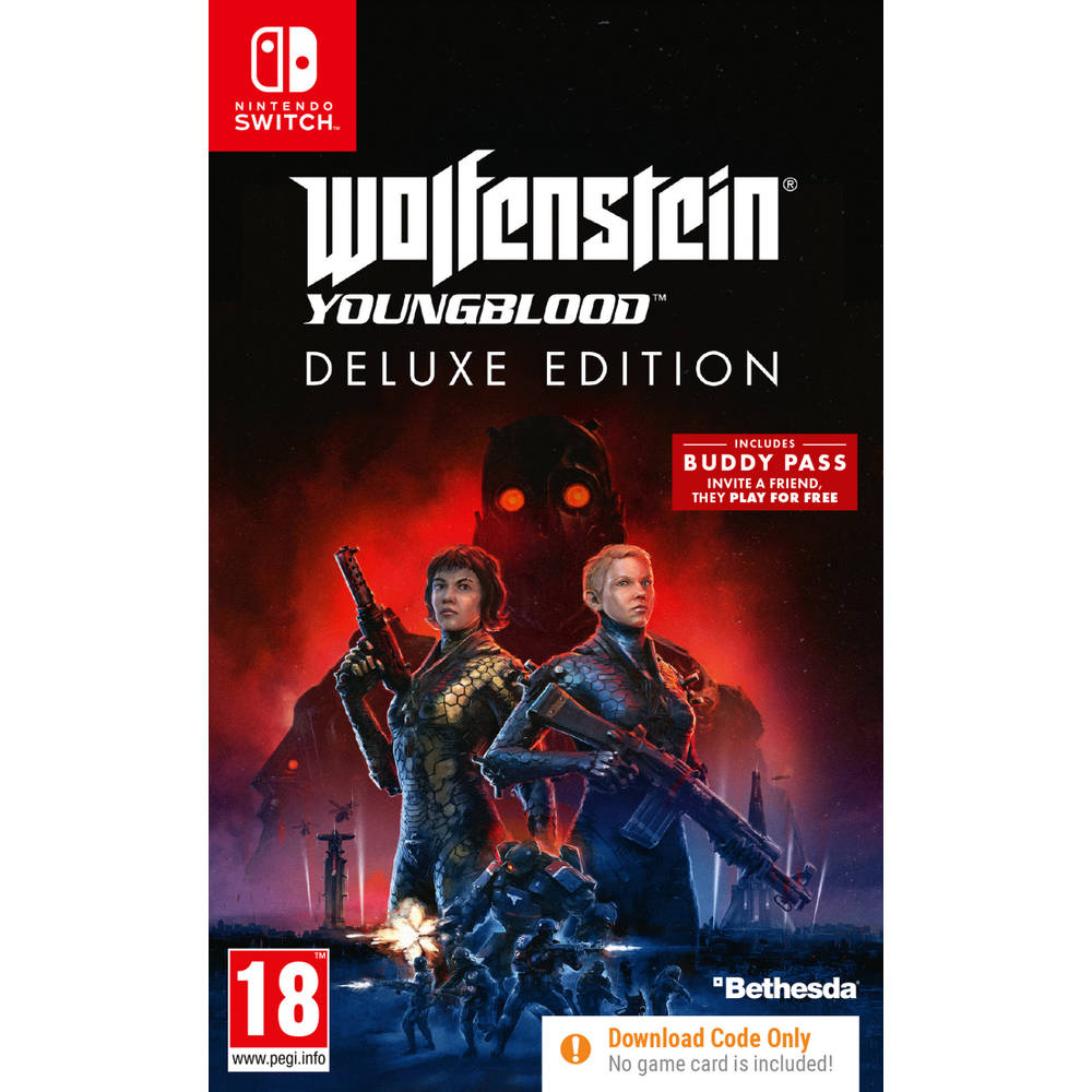 Nintendo Switch Wolfenstein: Youngblood deluxe edition - code in a box