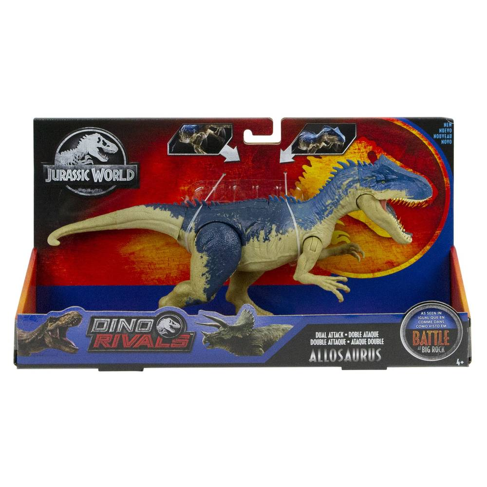 Jurassic World Mega dubbele aanval met geluid Allosaurus