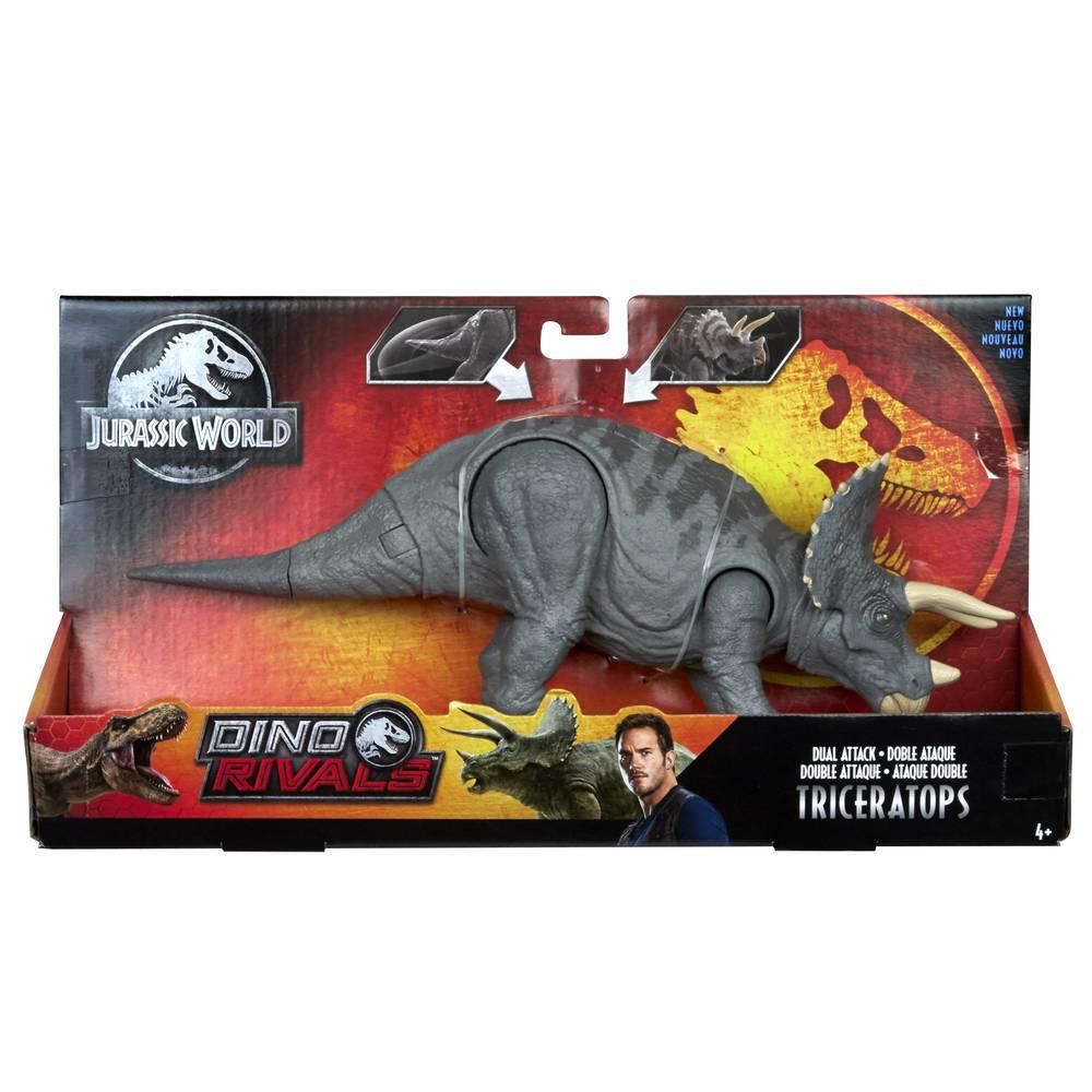 Jurassic World Mega dubbele aanval met geluid Triceratops