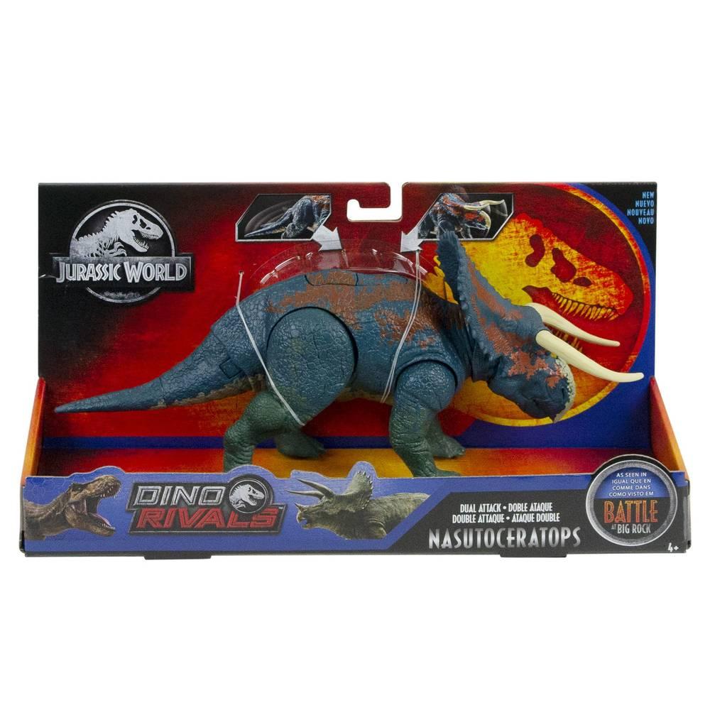 Jurassic World Mega dubbele aanval met geluid Nasutoceratops