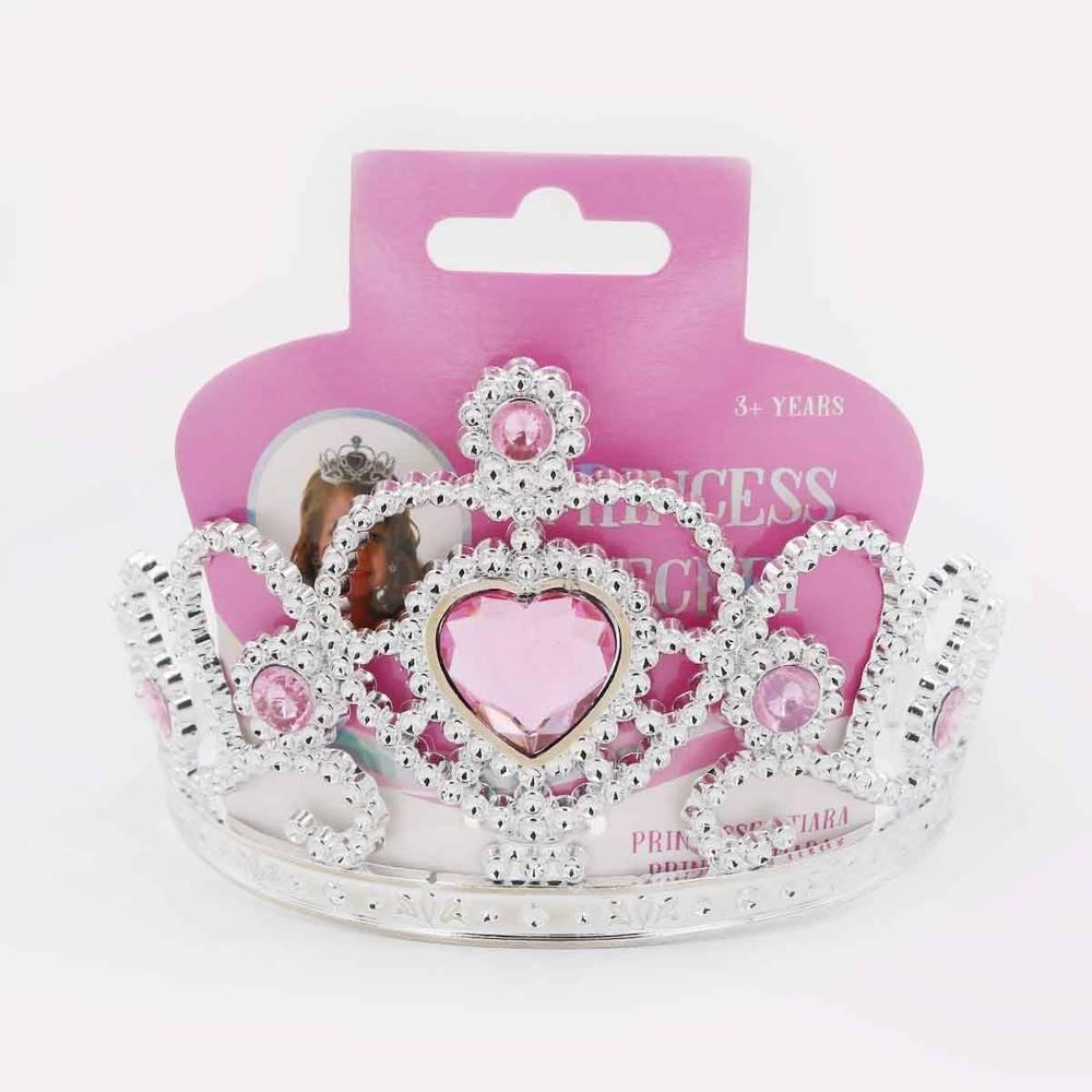 Prinsessenkroon met steentjes - roze