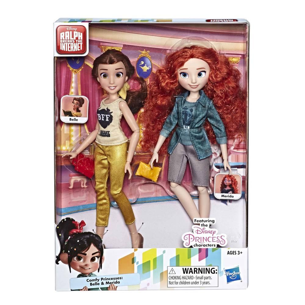 Disney Princess Belle en Merida modepoppen