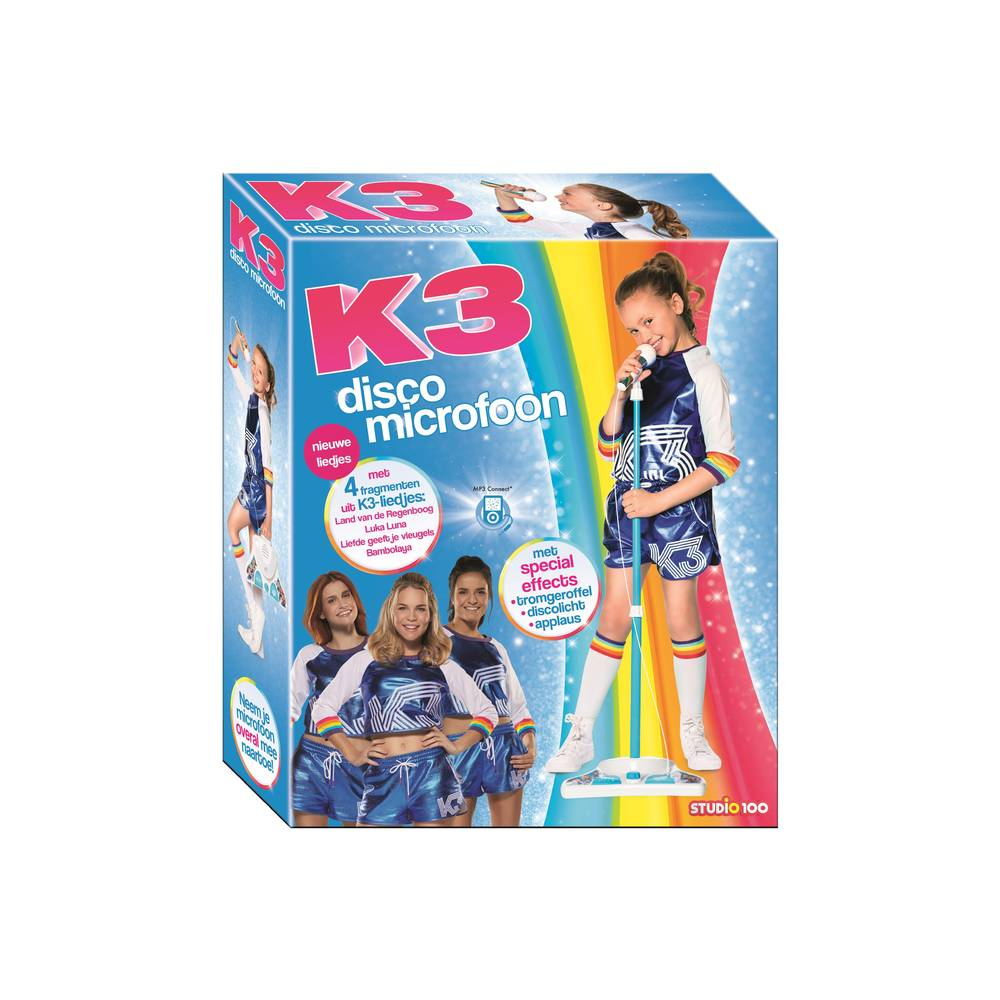K3 disco microfoon rollerdisco V2