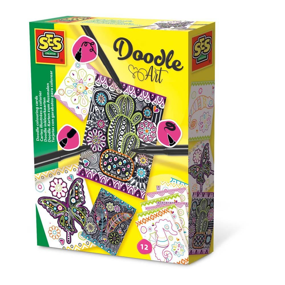 SES Creative Doodle inkleurkaarten