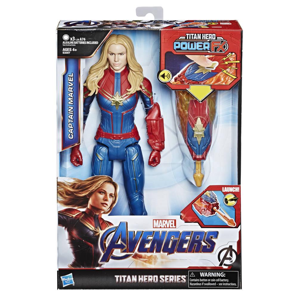Avengers Titan Hero Power FX Captain Marvel speelfiguur - 30 cm