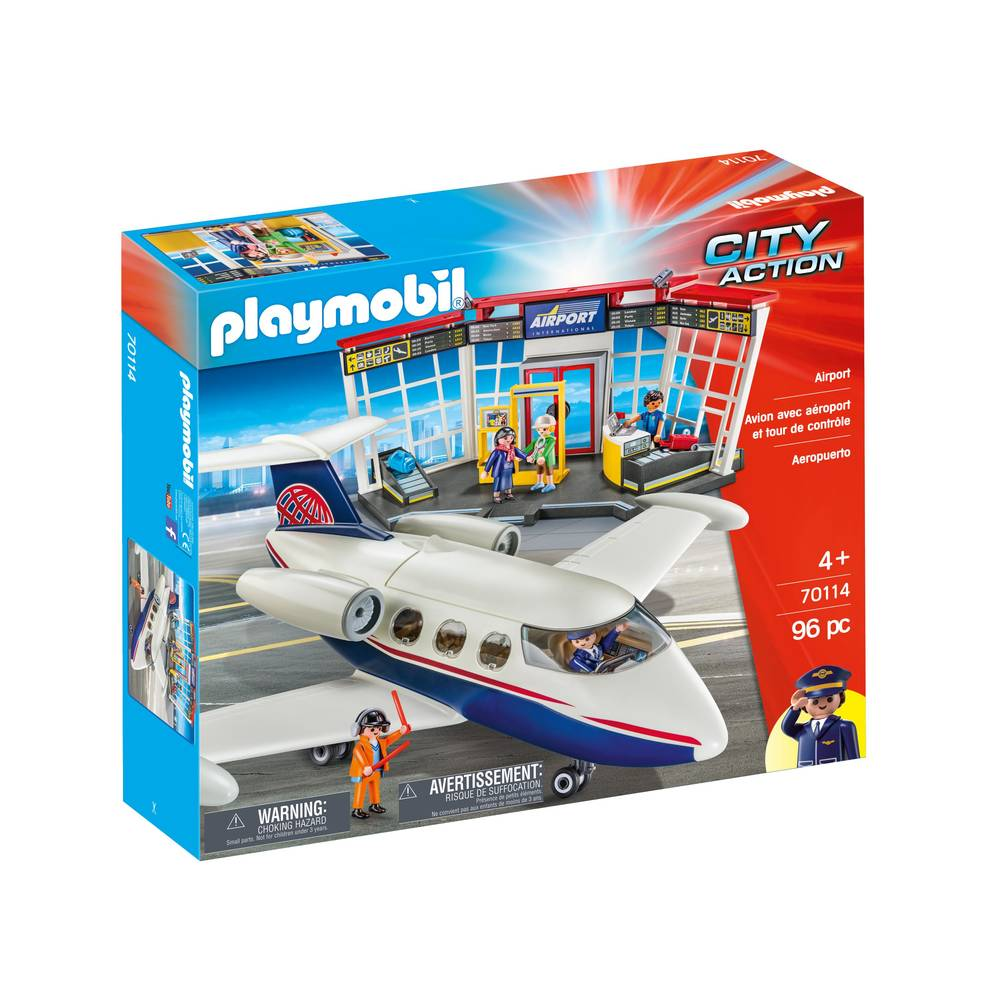 Milan: PLAYMOBIL City Action luchthaven en vliegtuig 70114
