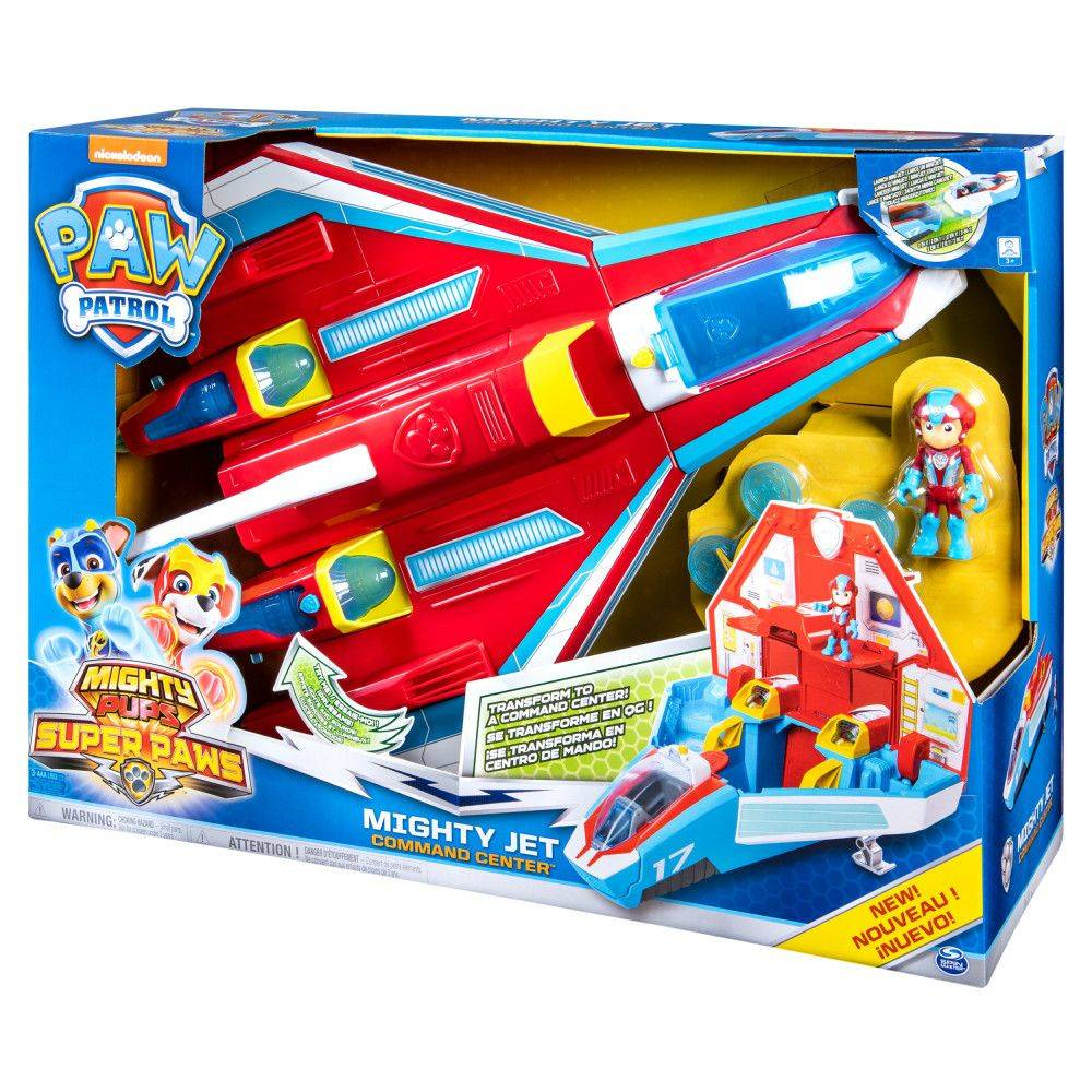 PAW Patrol Mighty Pups Supersonic Jet speelgoedvoertuig