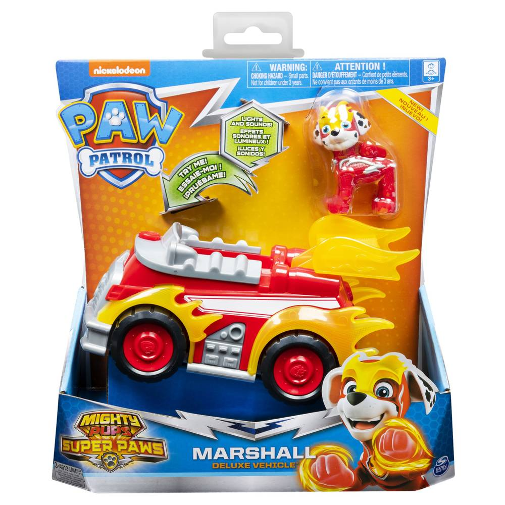 PAW Patrol Mighty Pups brandweerauto Marshall