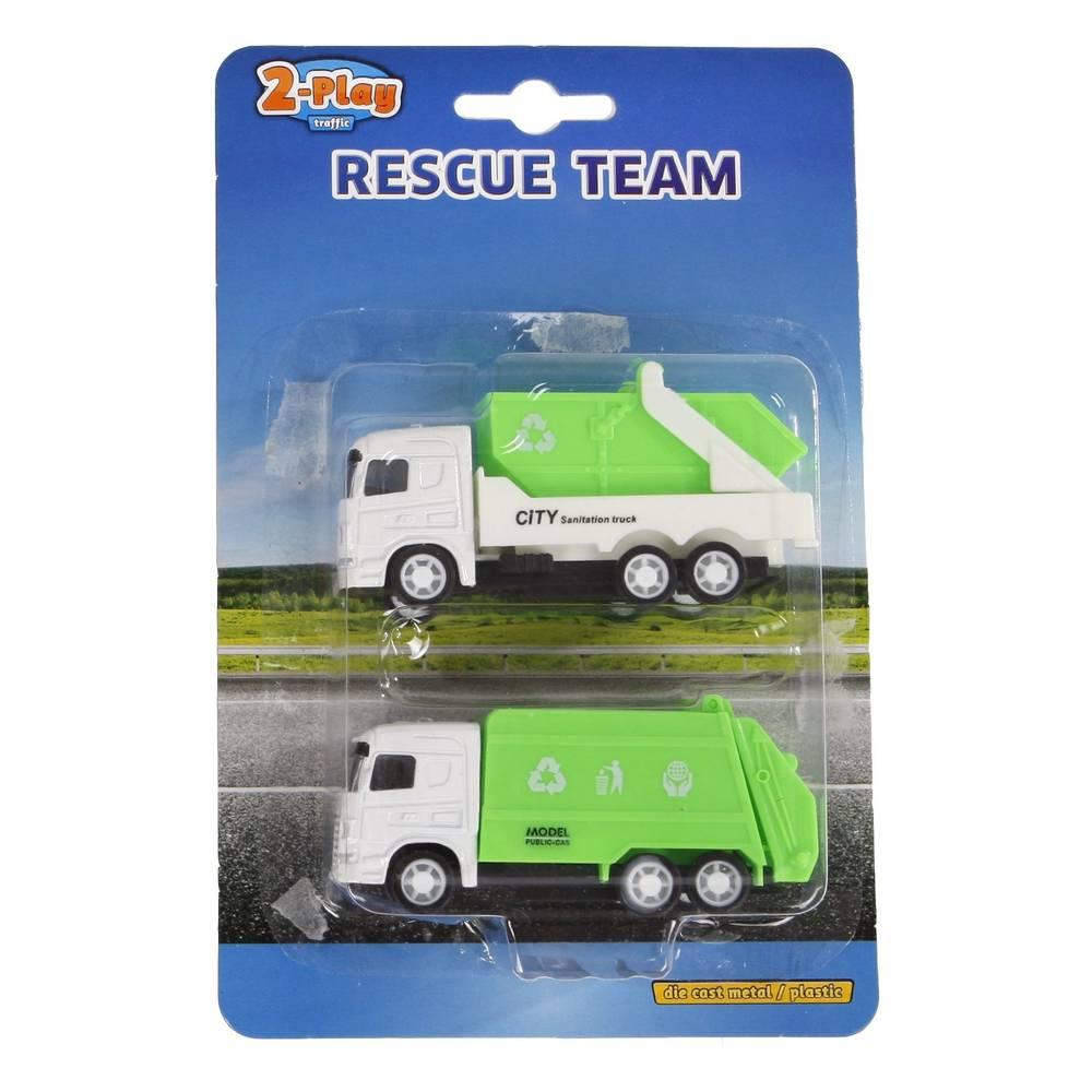 Vrachtwagens die cast 2-delige set