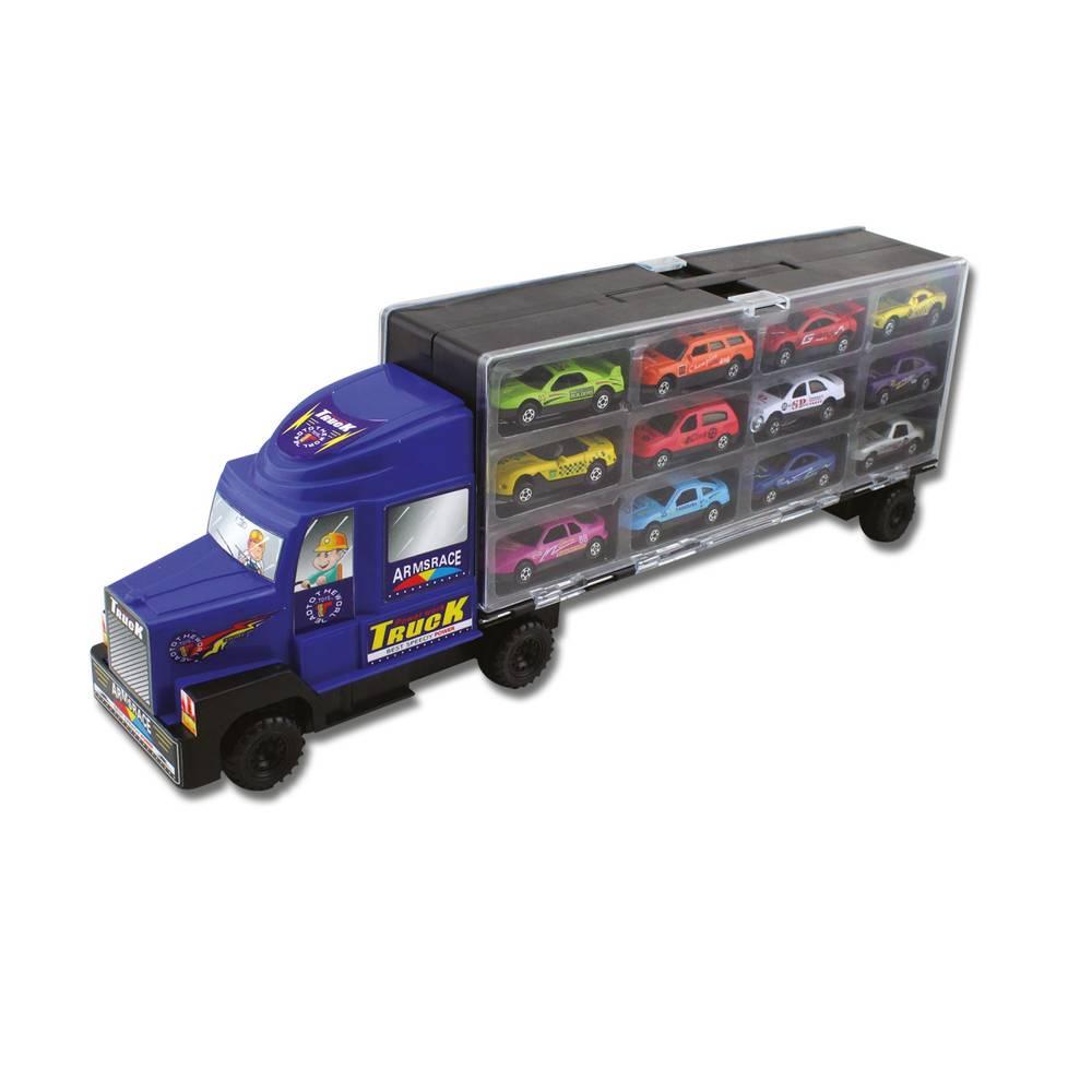 Truck met 12 die-cast voertuigen