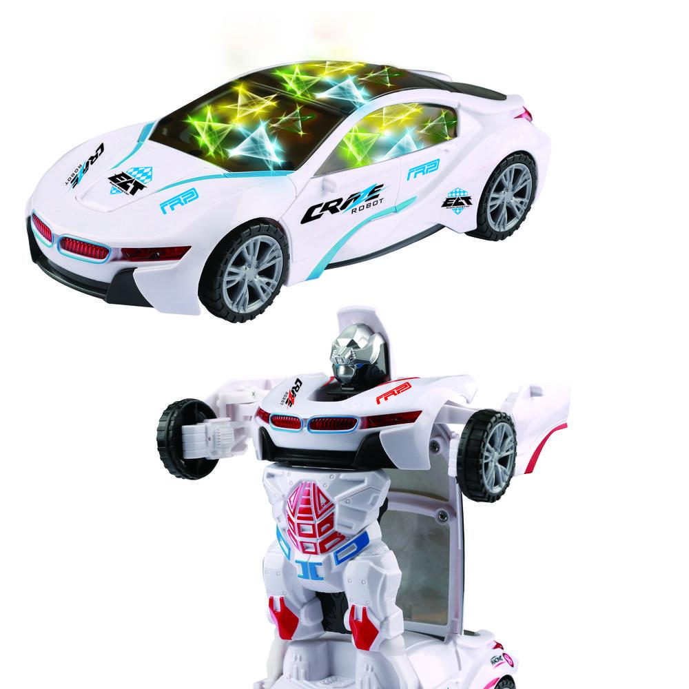 Robotauto met licht en geluid