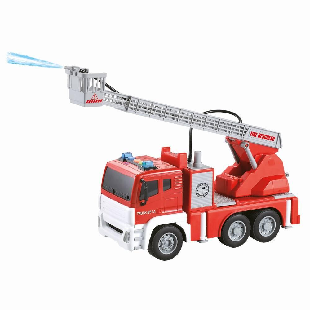 Brandweerwagen met licht en geluid - 1:15