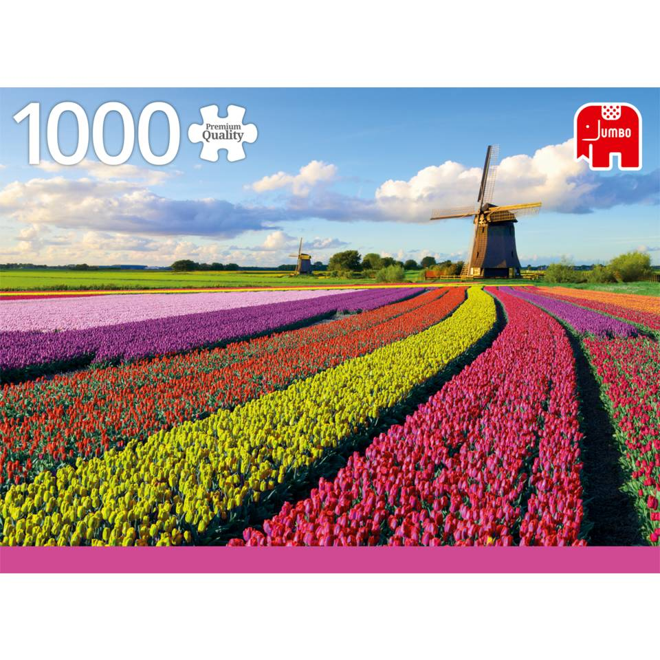 Jumbo puzzel Tulpenveld - 1000 stukjes
