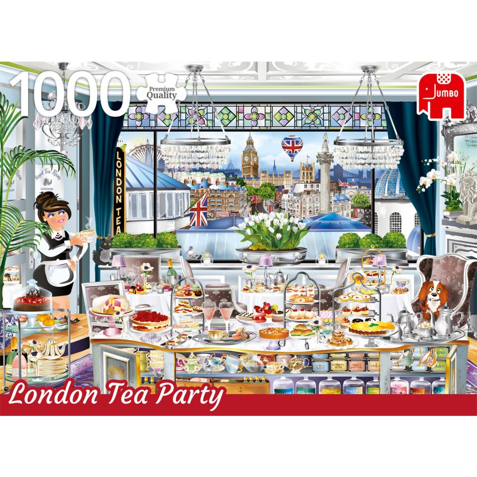 Jumbo puzzel Wanderlust collectie London Tea Party - 1000 stukjes