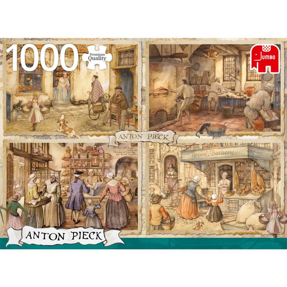 Jumbo puzzel Anton Pieck bakkers uit de 19e eeuw - 1000 stukjes