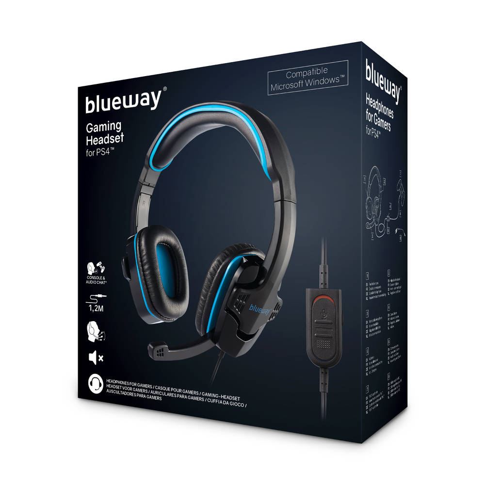 Blueway PS4 stereo gaming headset