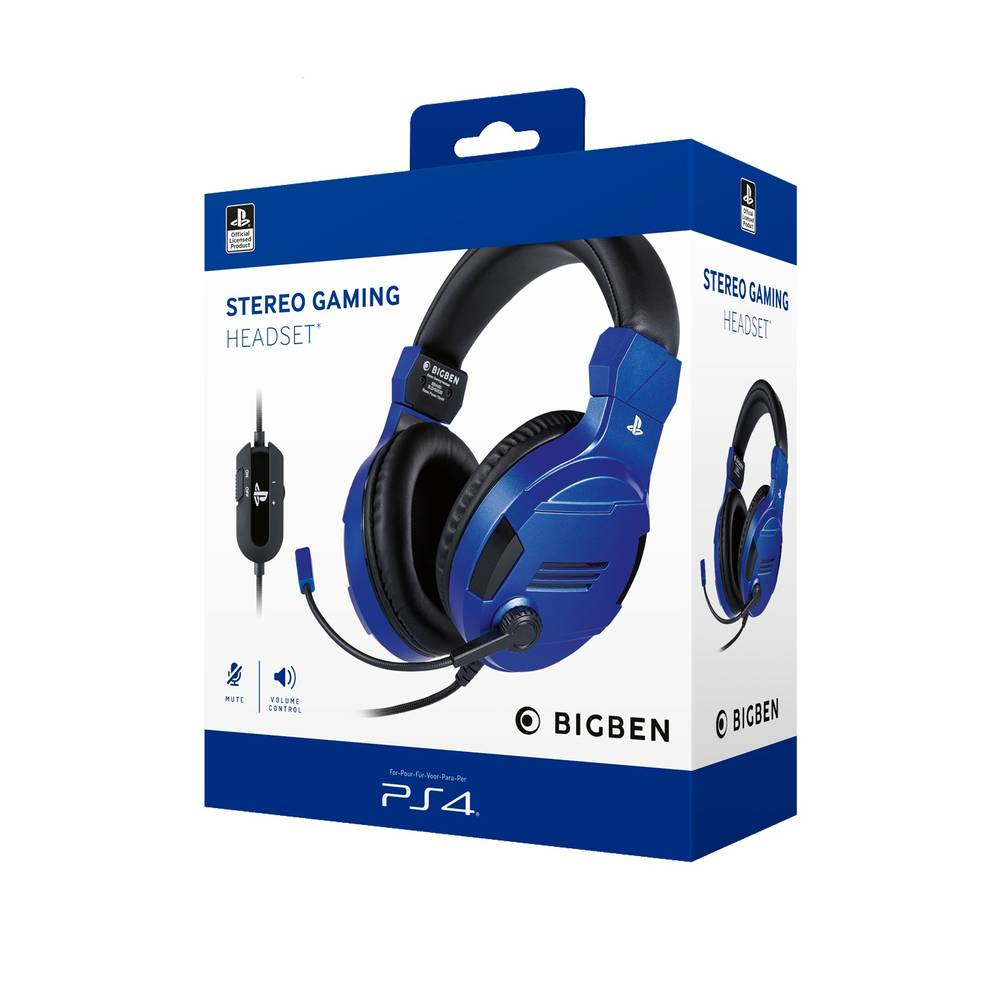 PS4 gaming headset official - blauw