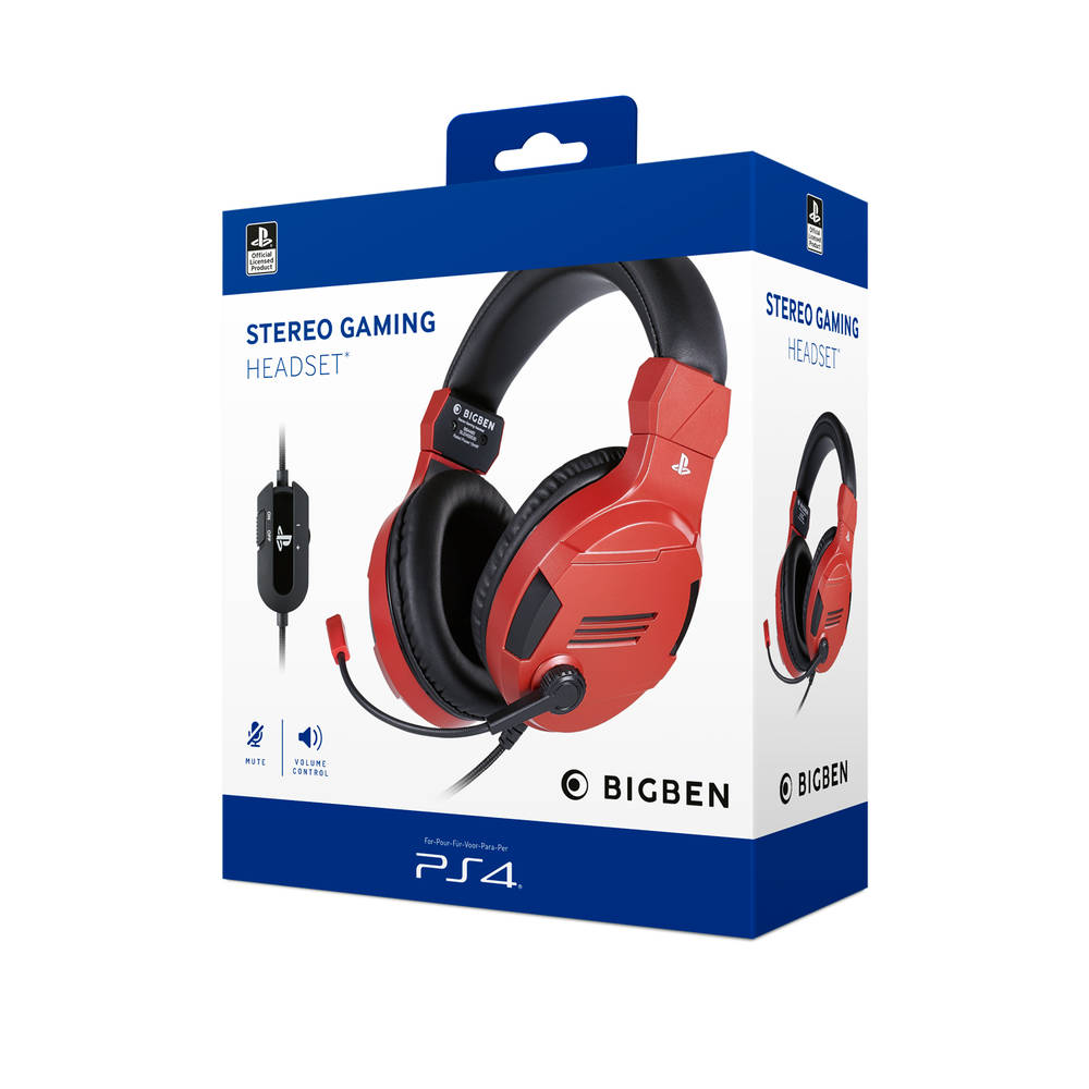 PS4 gaming headset official - rood