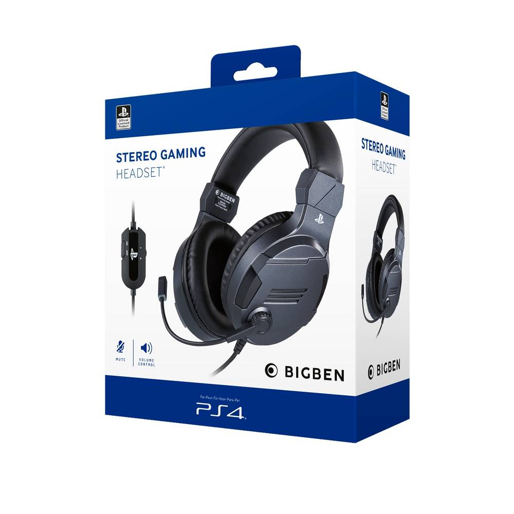 PS4 gaming headset official - titanium