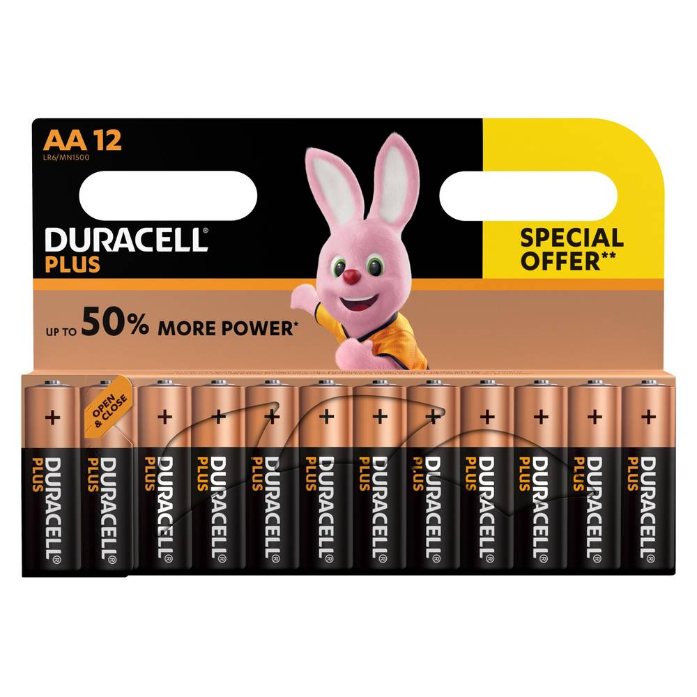 Duracell Power Plus AA alkaline batterijen - 12 stuks