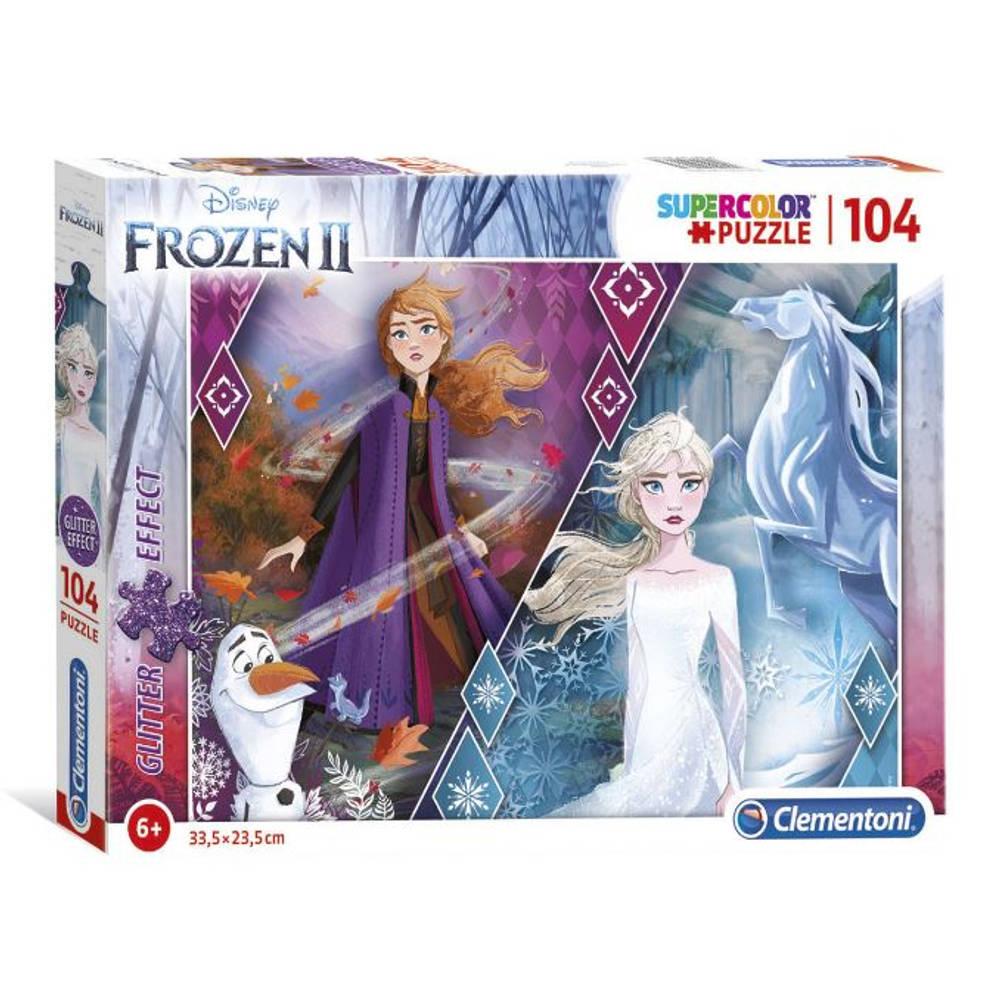 Clementoni Disney Frozen 2 Glitter 2 puzzel - 104 stukjes