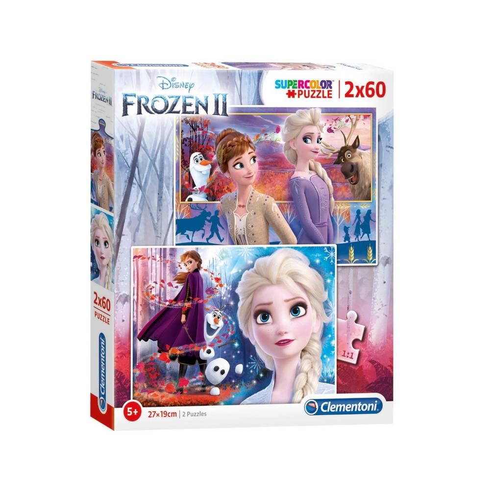 Clementoni Disney Frozen 2 puzzelset - 2 x 60 stukjes