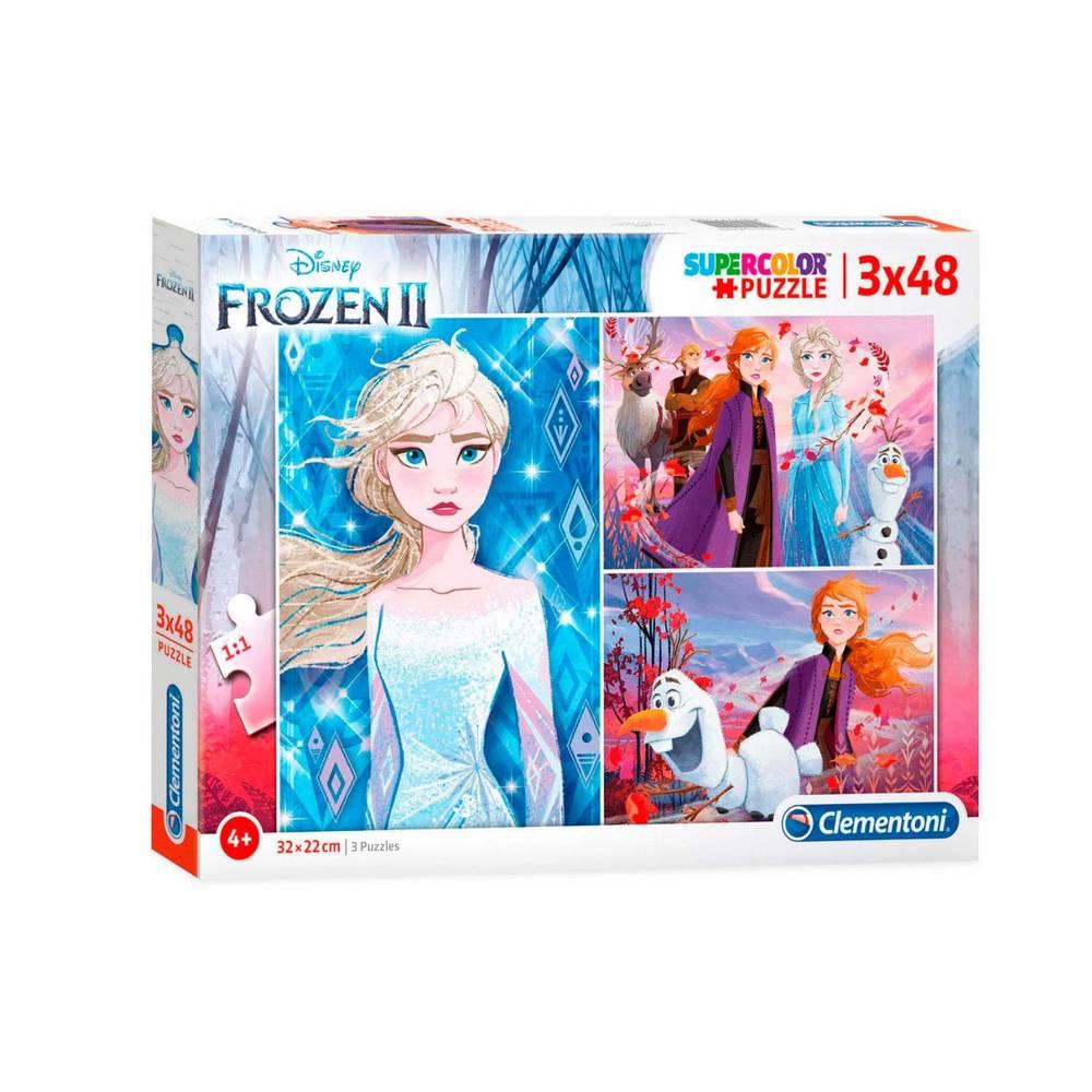 Clementoni Disney Frozen 2 puzzelset - 3 x 48 stukjes