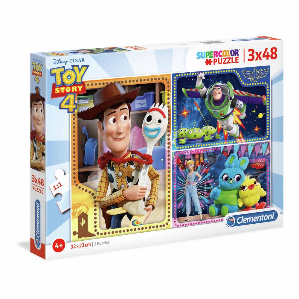 Clementoni Disney Toy Story 4 puzzelset - 3 x 48 stukjes