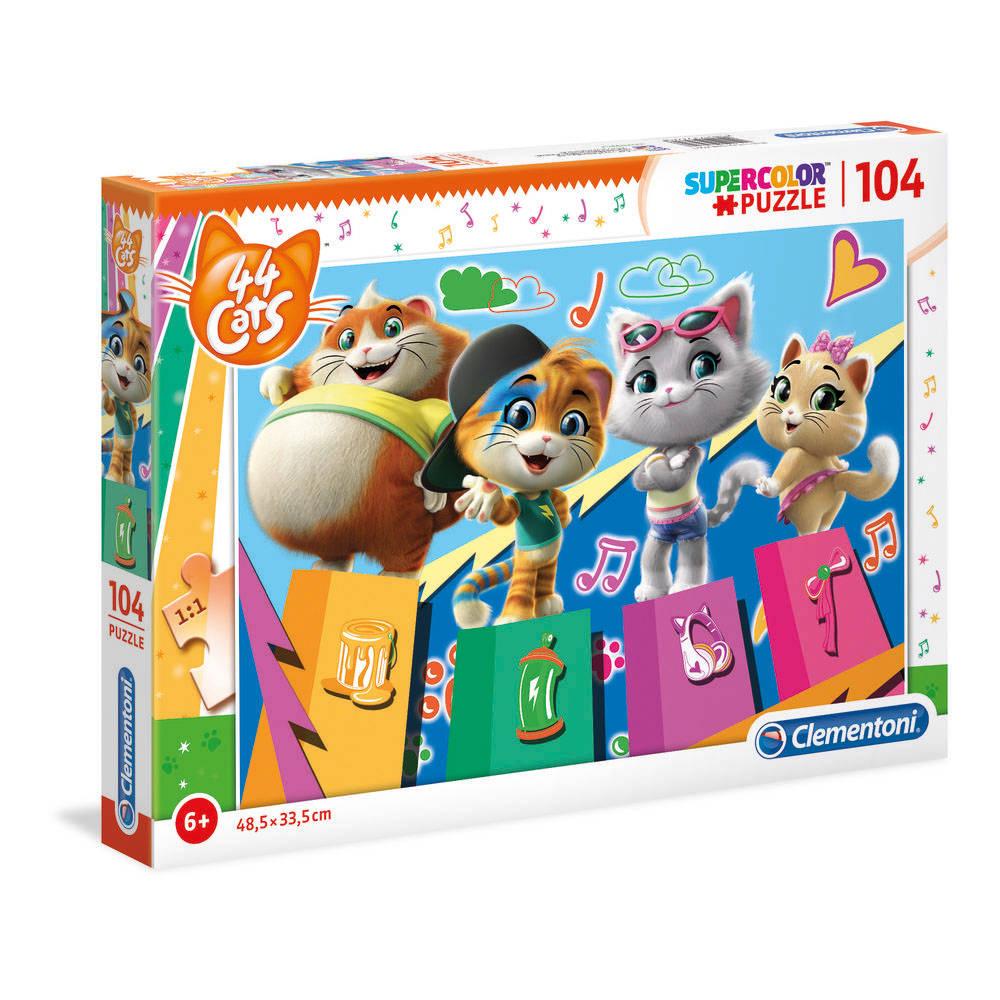 Clementoni Nickelodeon 44 Cats puzzel - 104 stukjes