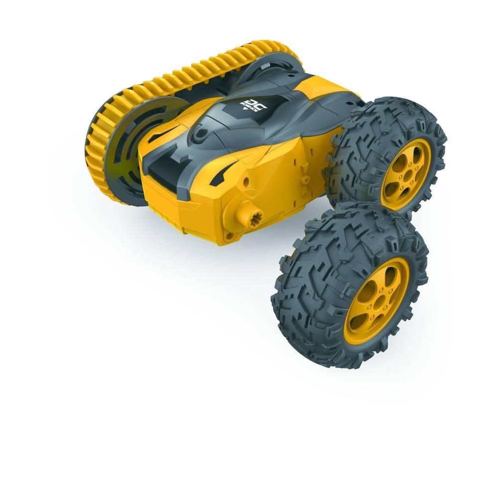 Wonky Cars op afstand bestuurbare auto Caterpillar - geel