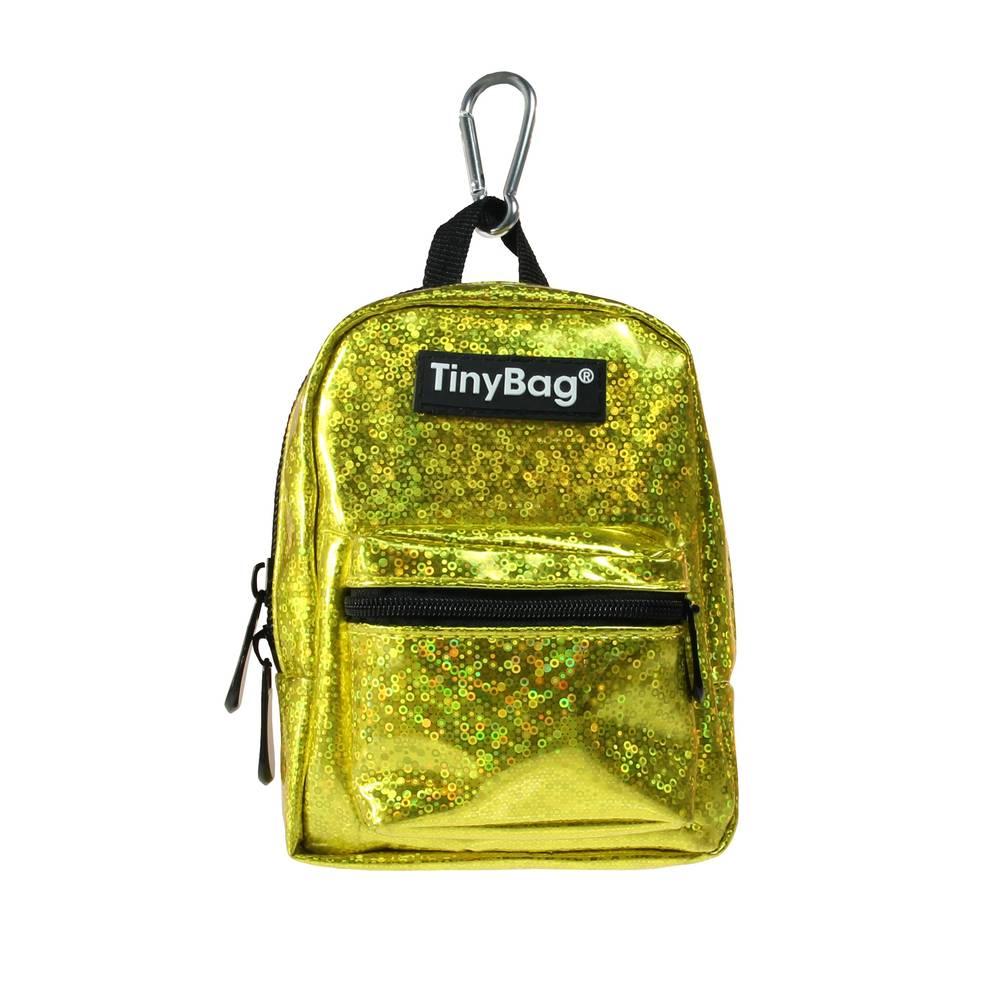 Tiny Bag Shiny Gold glitter rugzakje