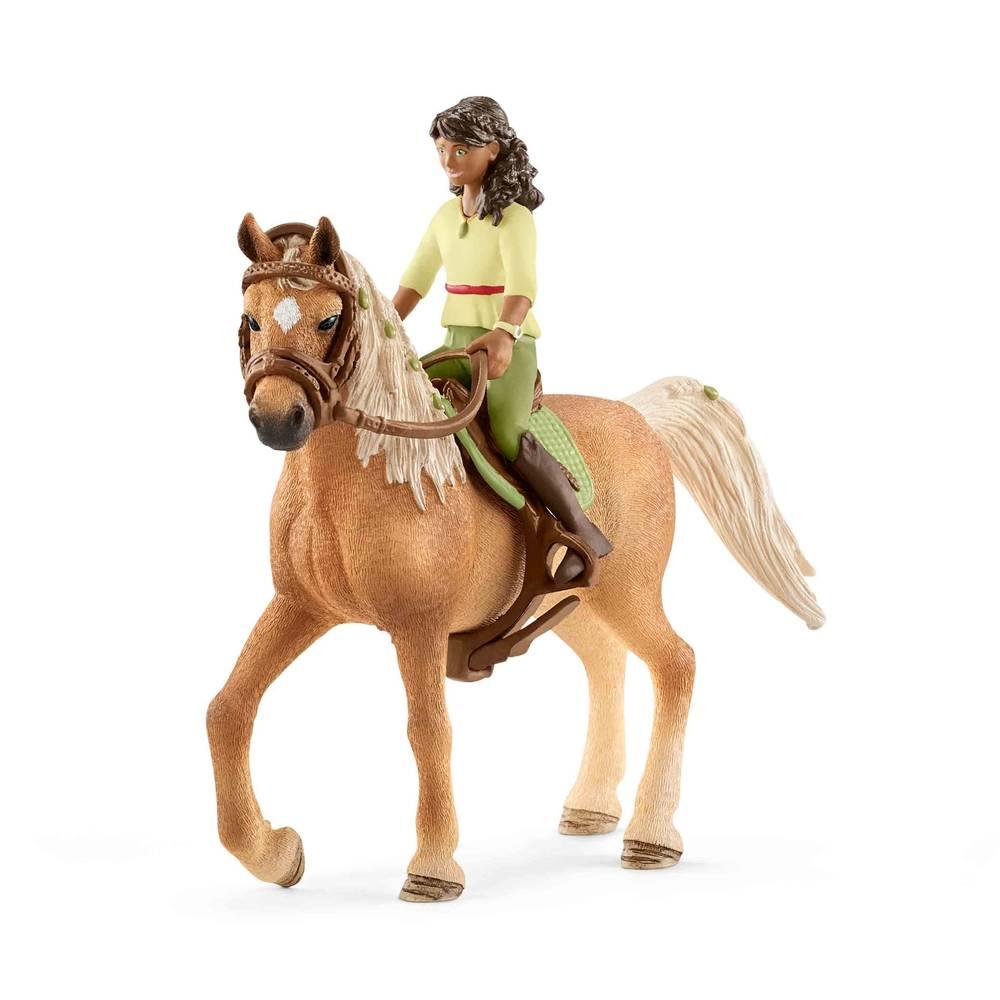 Schleich ruiter Sarah met paard Mystery 42517