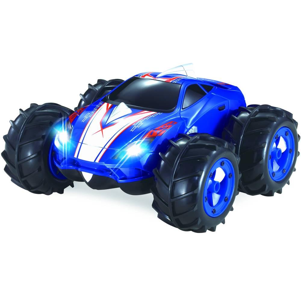 Wonky Cars op afstand bestuurbare auto mini Amphi - blauw