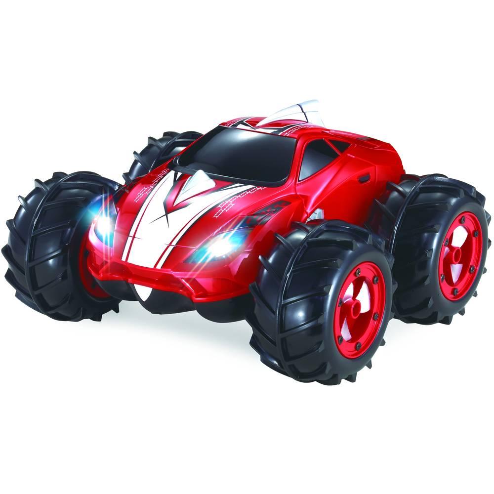 Wonky Cars op afstand bestuurbare auto mini Amphi - rood