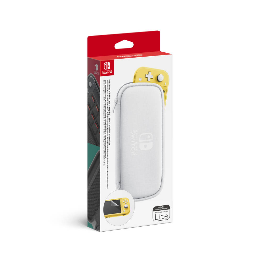 Nintendo Switch Lite beschermhoes en screen protector - wit