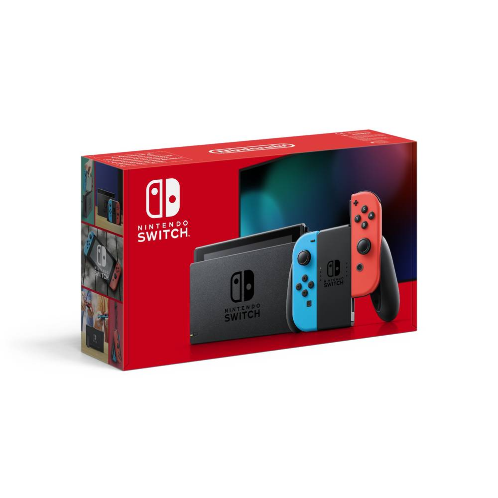 Nintendo Switch 2019 upgrade + TV-modus - rood/blauw