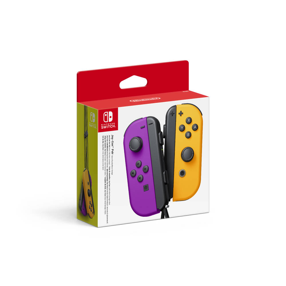 Nintendo Switch Joy-Con controllers set van 2 - paars + oranje