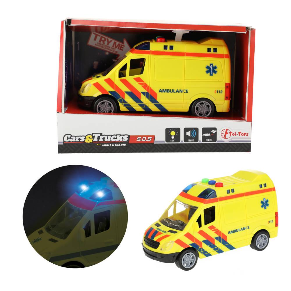 Cars & Trucks frictie ambulance met licht en geluid
