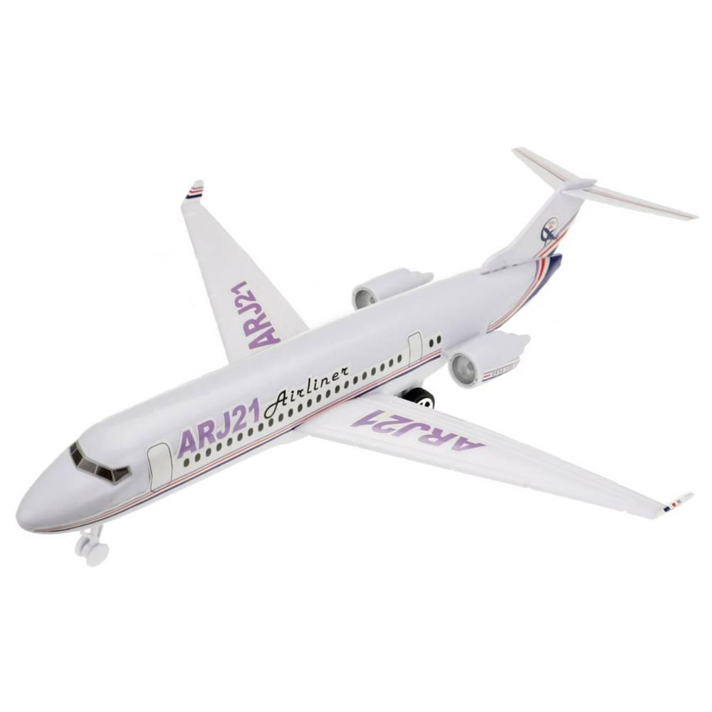 Passagiersvliegtuig met licht en geluid
