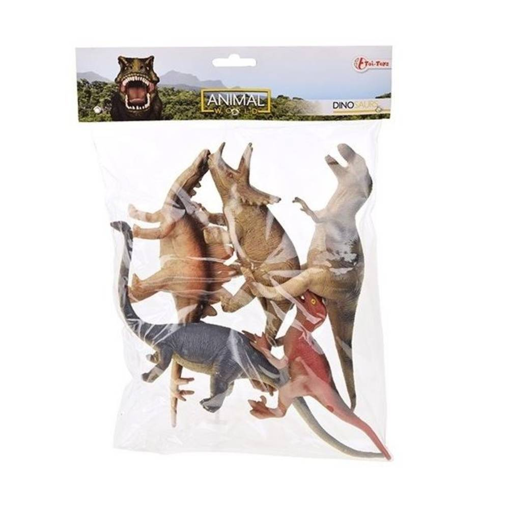 Animal World dinosaurussen in zak 5-delig