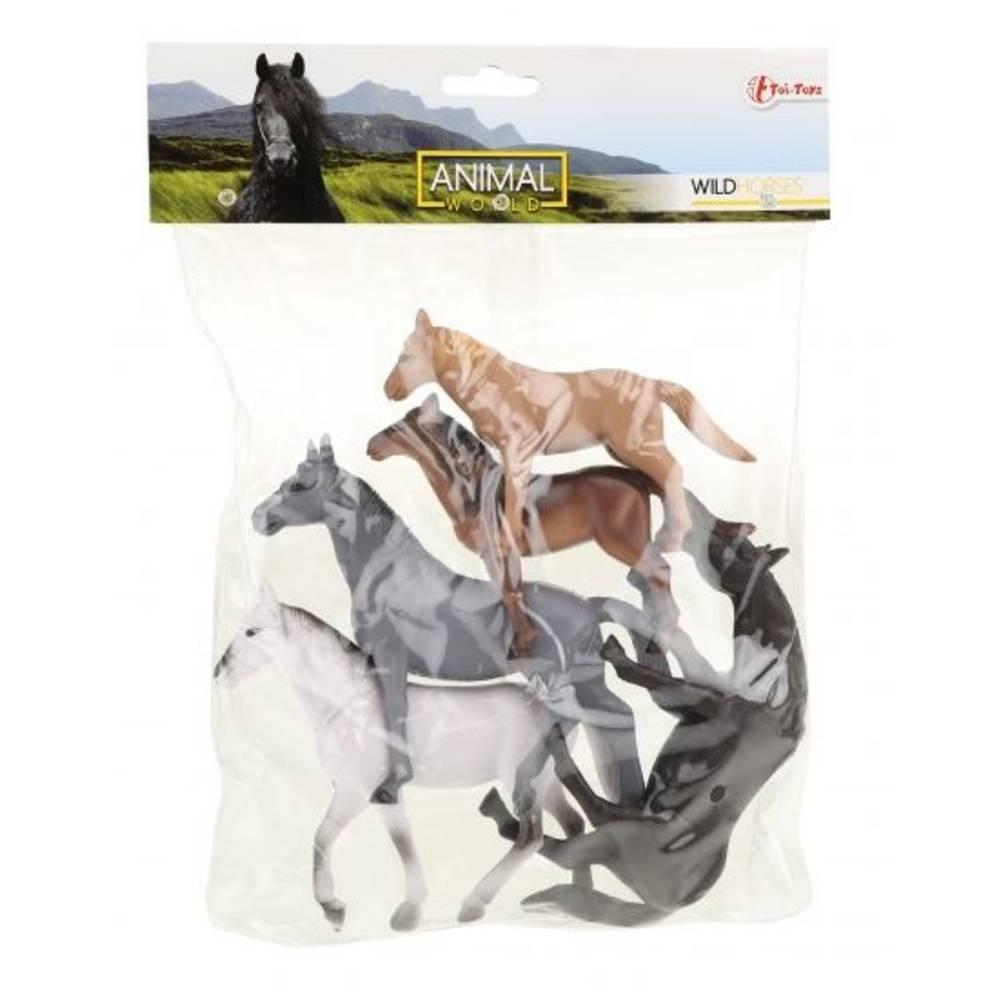 Animal World paarden in zak 5-delig