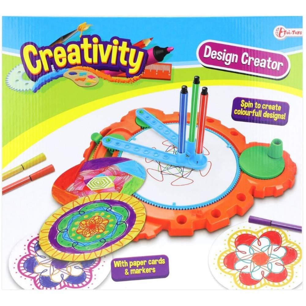 Creativity spiraal tekenset met kaarten en stiften