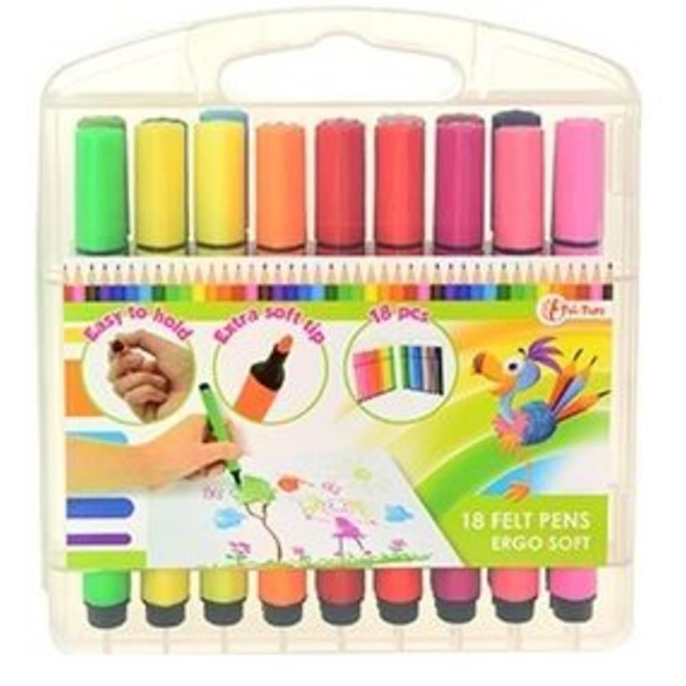Kleuren viltstiften - 18 stuks