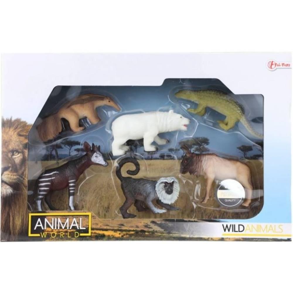 Animal World wilde dieren set 6-delig