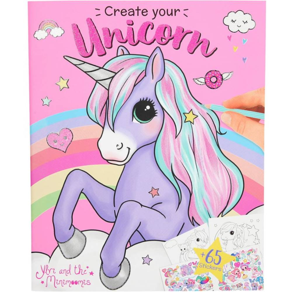 Ylvi and the Minimoomis Create Your Unicorn kleurboek