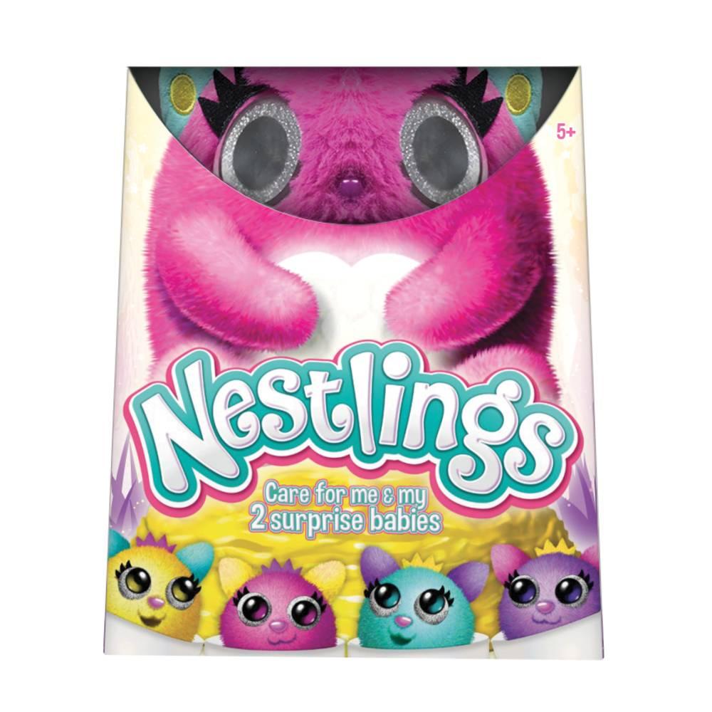 Nestlings interactieve knuffel - roze