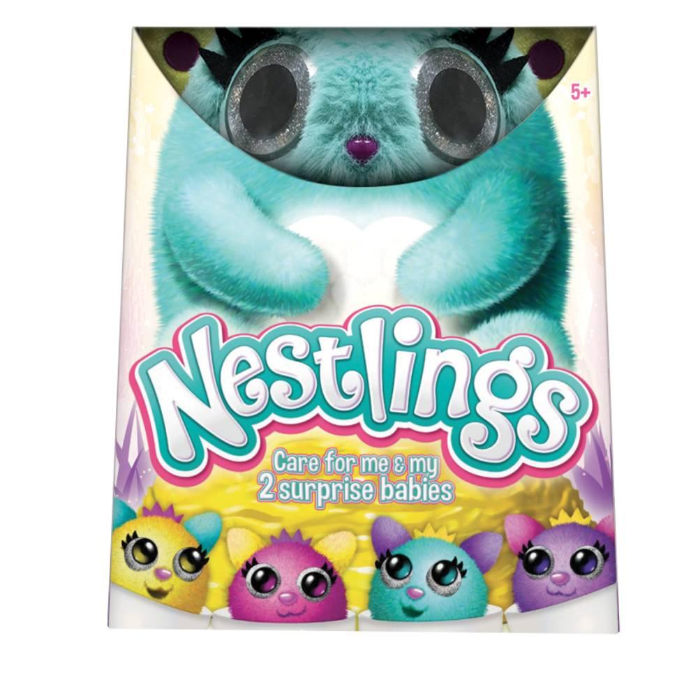 Nestlings interactieve knuffel - blauw